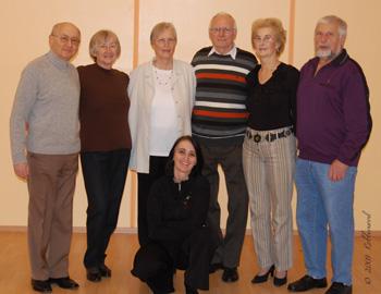 Begeisterte Tänzer im Senioren Tanzkreis